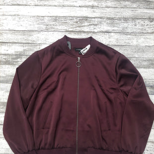 Primary Photo - BRAND: LANE BRYANT STYLE: JACKET OUTDOOR COLOR: BURGUNDY SIZE: 20 SKU: 126-2057-4909