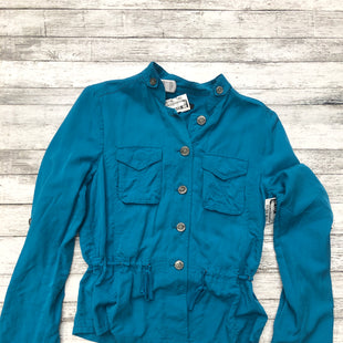 Primary Photo - BRAND: WHITE HOUSE BLACK MARKET STYLE: JACKET OUTDOOR COLOR: TEAL SIZE: S SKU: 126-3003-6550