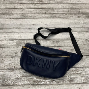 Primary Photo - BRAND: DKNY STYLE: BELT BAG COLOR: NAVY SIZE: MEDIUM OTHER INFO: RTL $128 SKU: 126-2092-177350