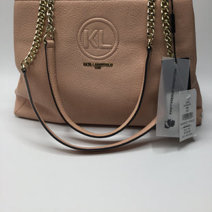 Karl Lagerfeld Handbag NWT! - LIGHT PINK KARL LAGERFELD HANDBAG WITH GOLD HARDWARE3 COMPARTMENTS, 2 OPEN AND1 ZIP CLOSURETAGS ATTACHED RETAILS $248.