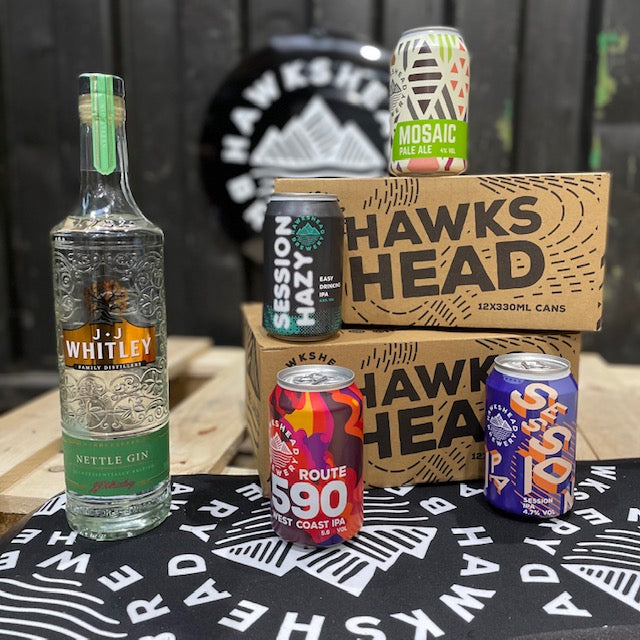 Hawkshead Brewery - 2 x mixed case cans and free bottle of JJ Whitley Nettle Gin
