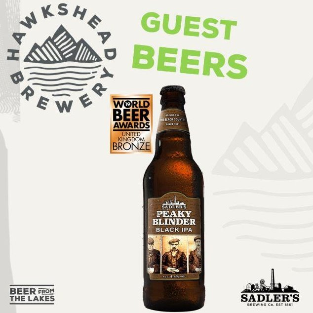 Sadler's Peaky Blinder Black IPA 8 Bottle Case - HawksheadBrewery