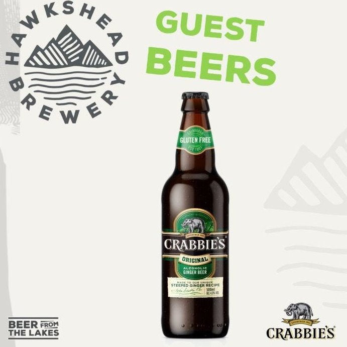 Hawkshead Brewery - Crabbies Original Alcoholic Ginger Beer 12x500ml Bottles