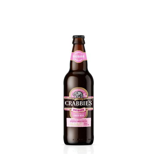 Crabbie's Rhubarb Ginger Beer 12 Bottle Case