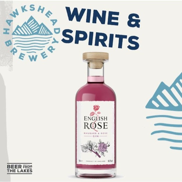 Hawkshead Brewery - English Rose Rhubarb & Rose Gin 70cl