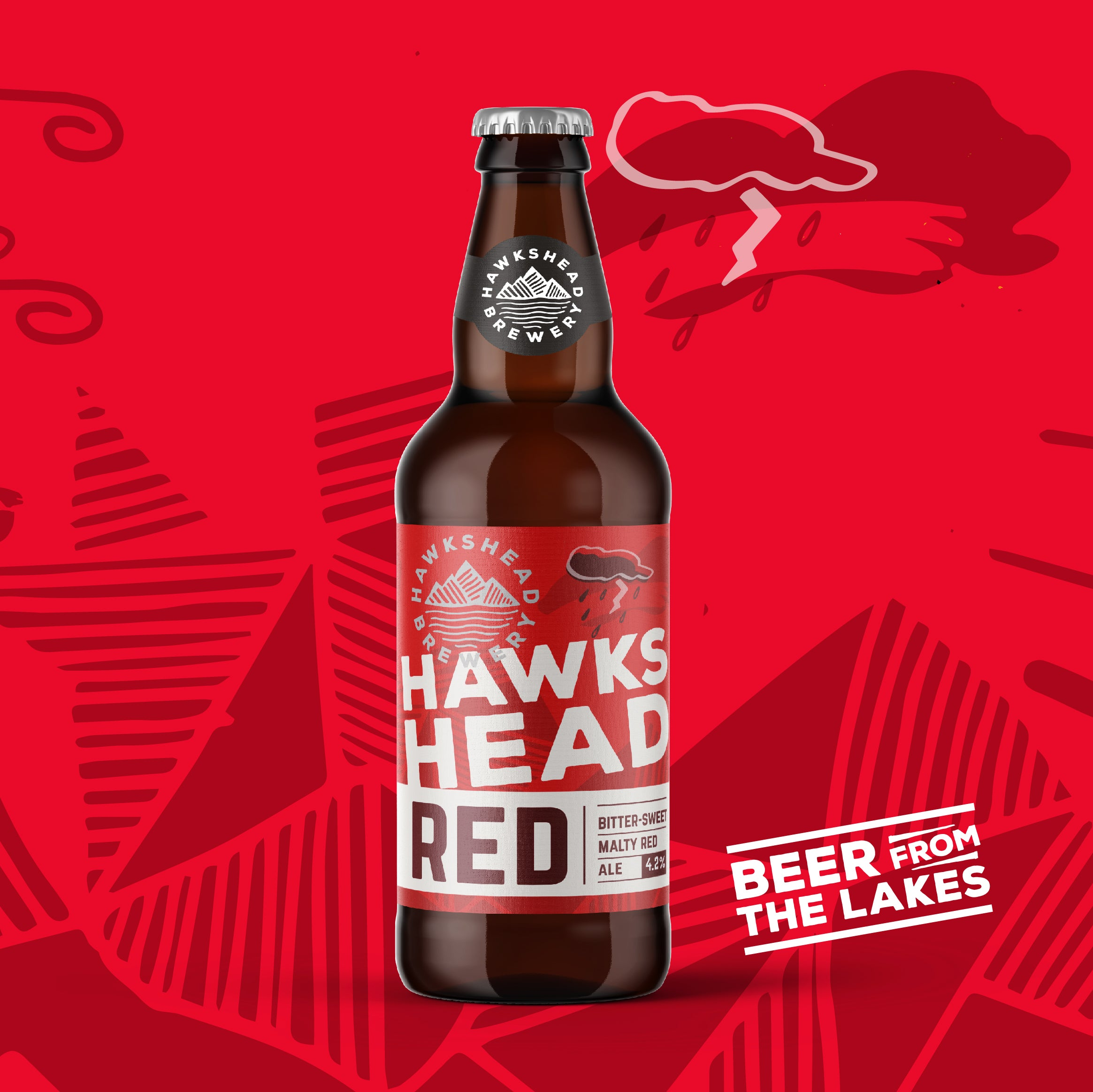 Hawkshead Bitter-sweet Red Ale, 8 Bottles of 500ml. Hawskhead Brewery
