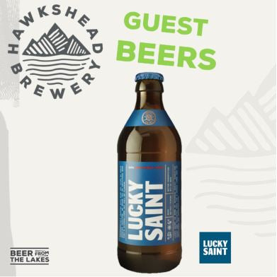 Lucky Saint Unfiltered Lager .5% 20x330ml
