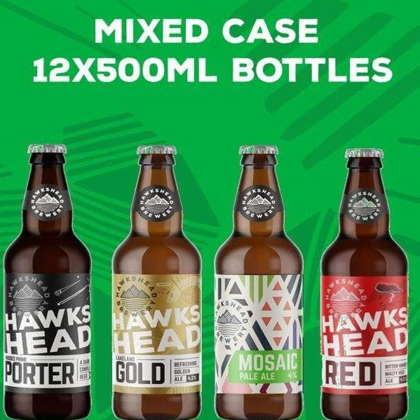 Hawkshead Brewery - Mixed Case Bottles 8x500ml - Porter, Gold, Mosaic and Red