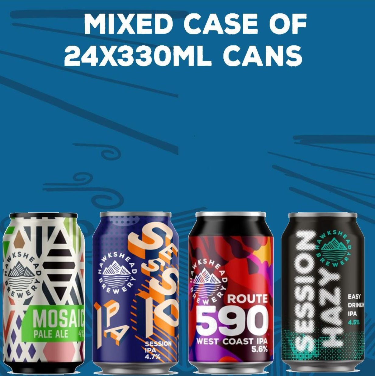 Hawkshead Brewery - Double mixed Can Case Deal - 24x 330ml cans