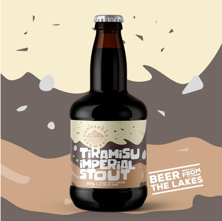 LIMITED EDITION HAWKSHEAD TIRAMISU IMPERIAL STOUT 12 BOTTLE CASE