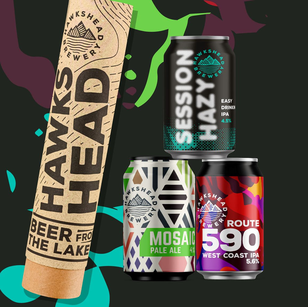 Hawkshead Brewery Beer Bullet 3x 330ml Cans. Session Hazy IPA, Mosaic Pale Ale and Route 590 IPA
