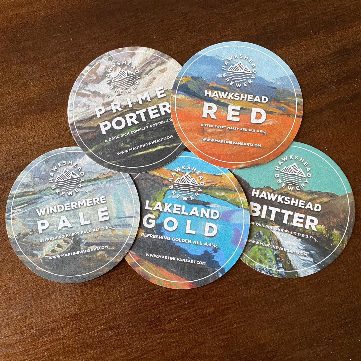 Hawkshead Brewery limited edition beer mats