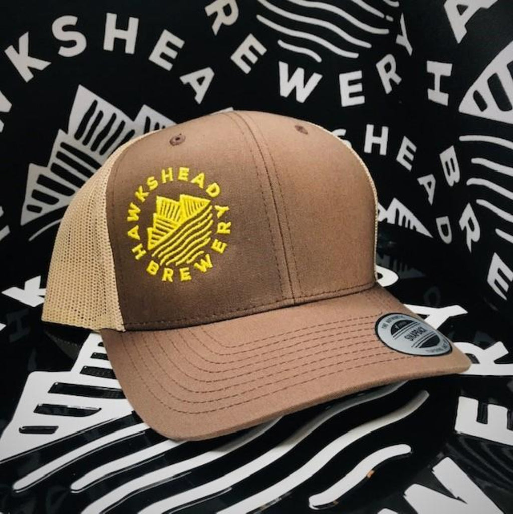 Hawkshead Brewery - Brown Trucker Hat with Yellow Logo
