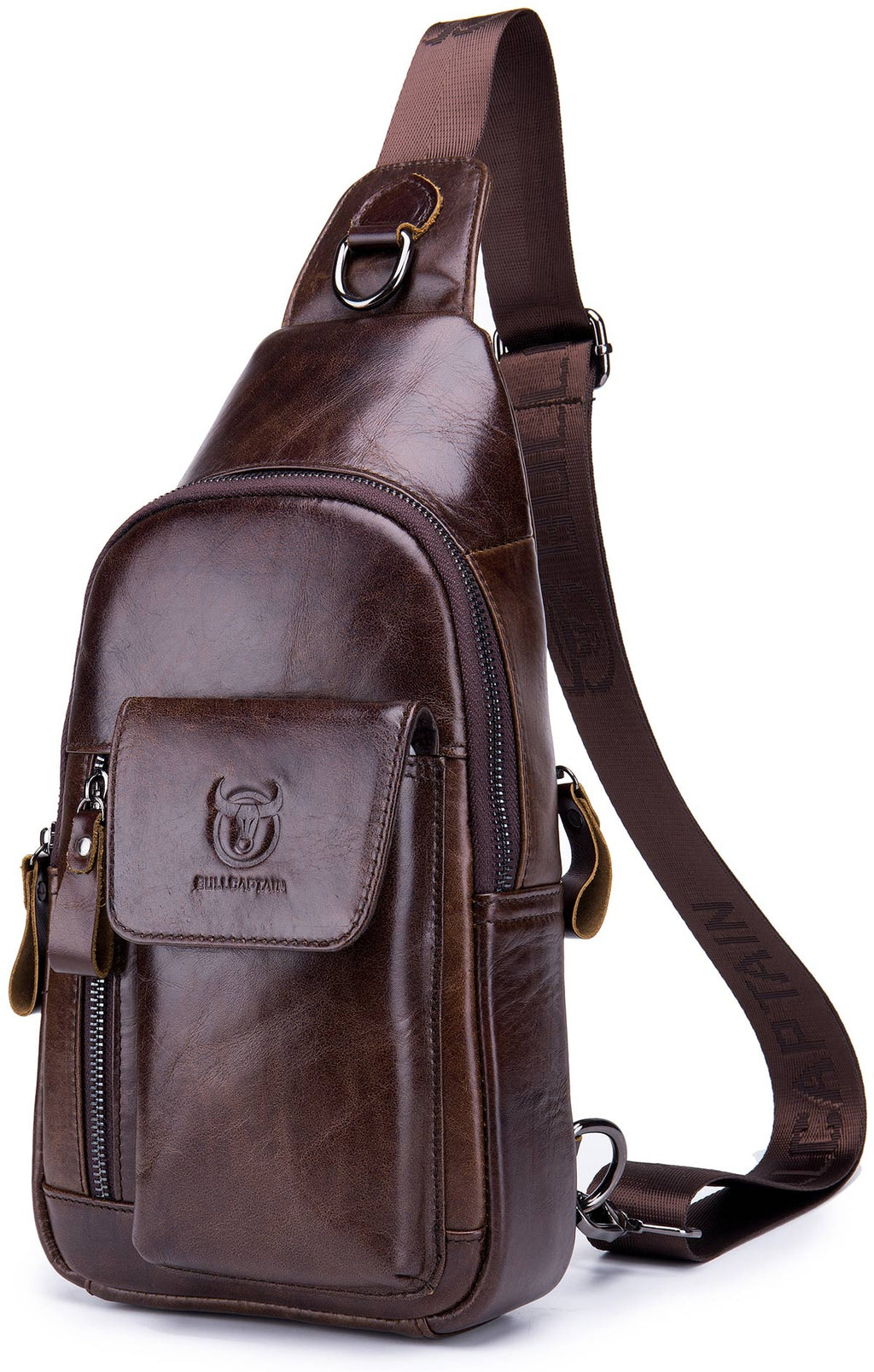 BULLCAPTAIN LEATHER SLING BAG - 121