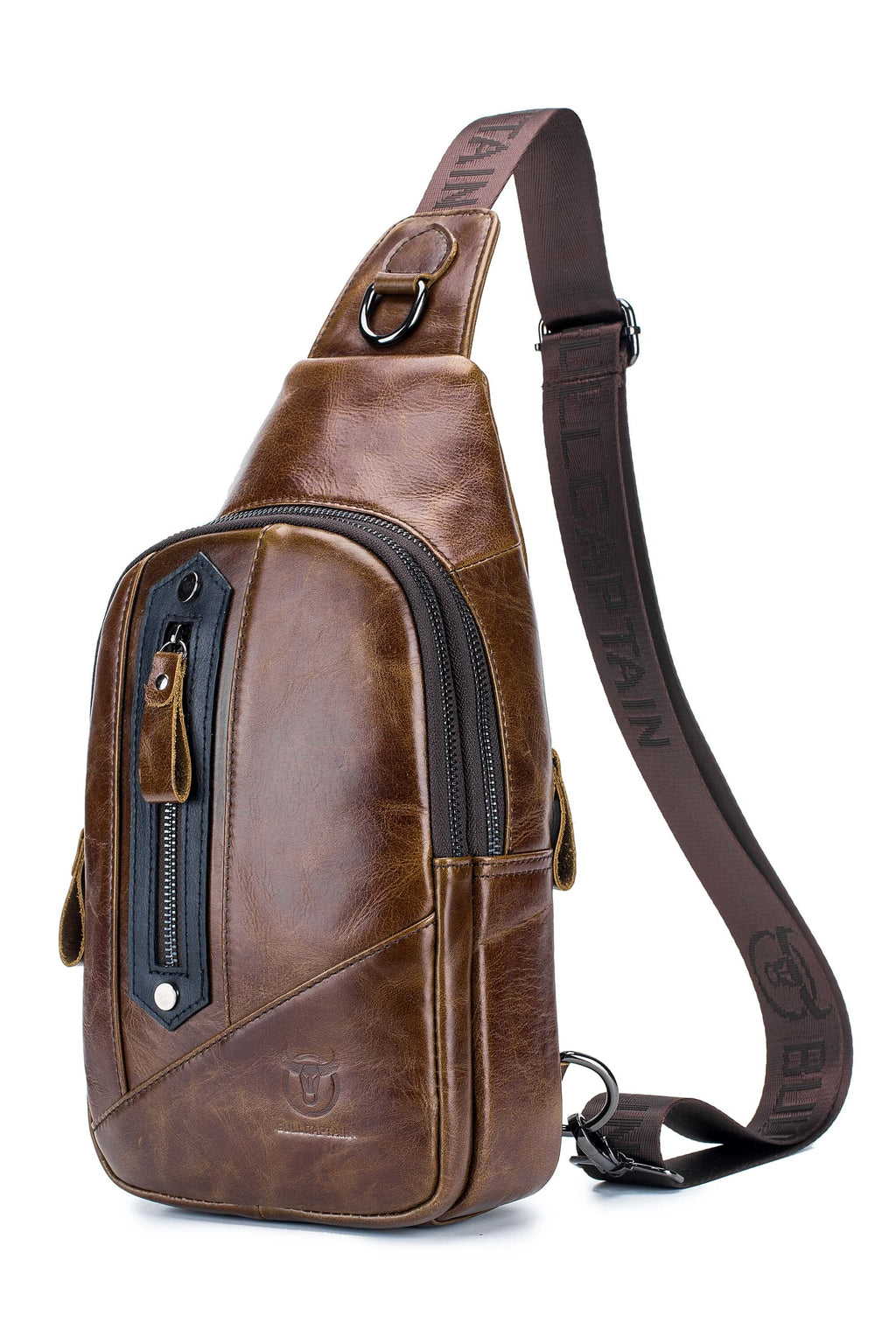 BULLCAPTAIN LEATHER SLING BAG - 126