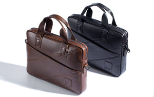 BULLCAPTAIN LEATHER BRIEFCASE