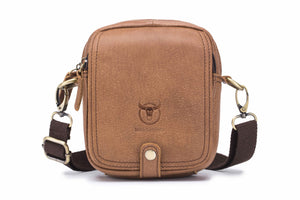 Bullcaptain Leather Satchel Small Minimalist Shoulder Bag For Outing - 221