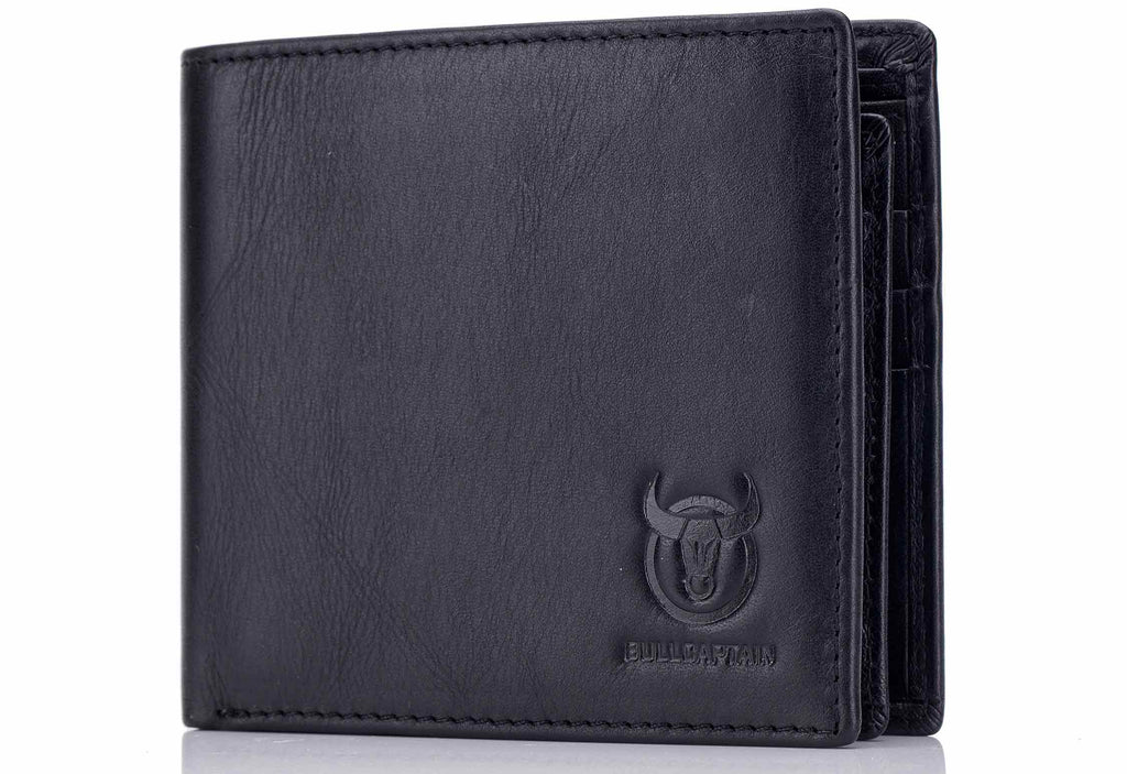 BULLCAPTAIN LEATHER BIFLOD RFID BLOCKING MEN VINTAGE WALLET WITH SIM CARD POCKET - 015