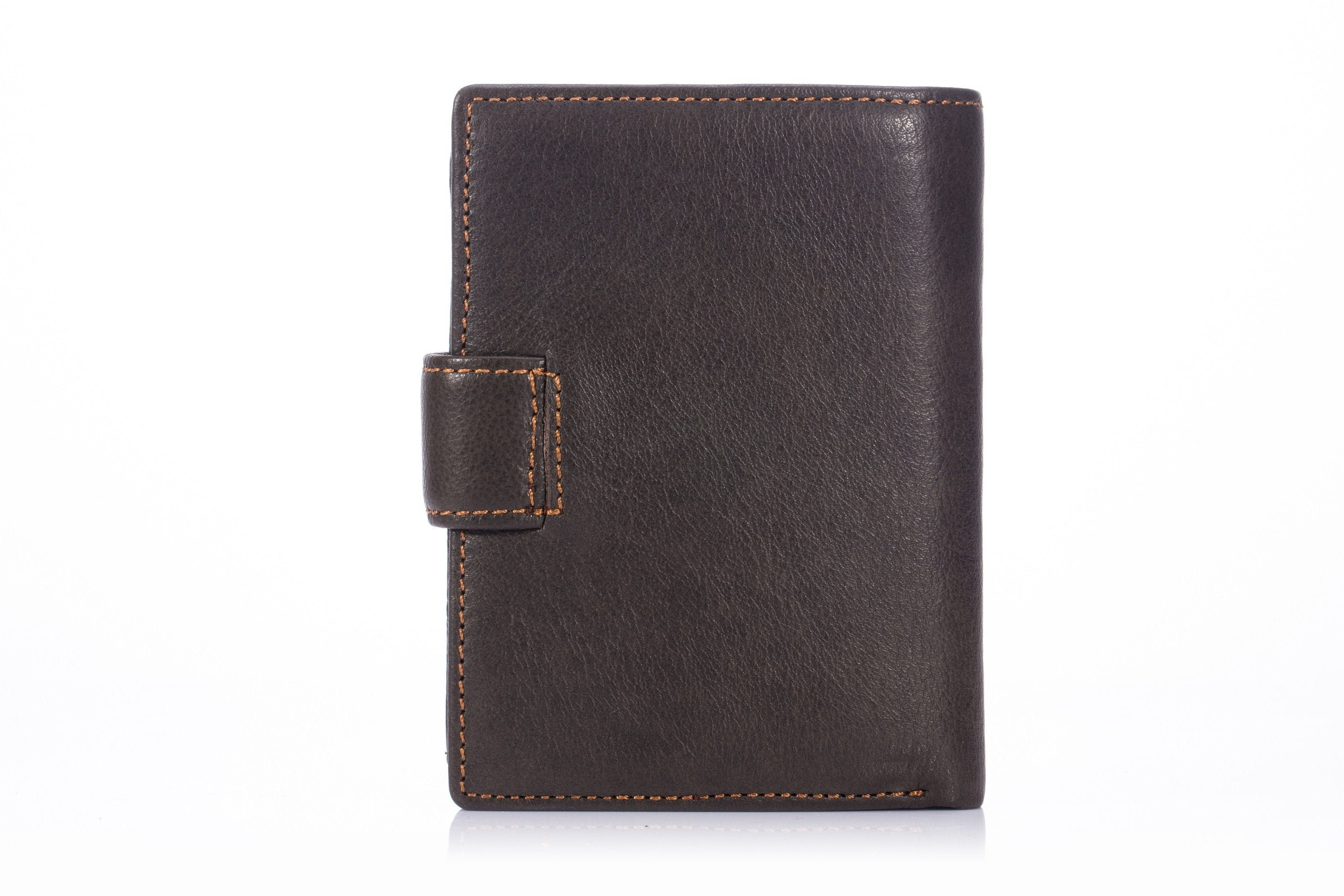 BULLCAPTAIN LEATHER BIFLOD RFID BLOCKING MEN WALLET WITH  COIN POCKET - 012