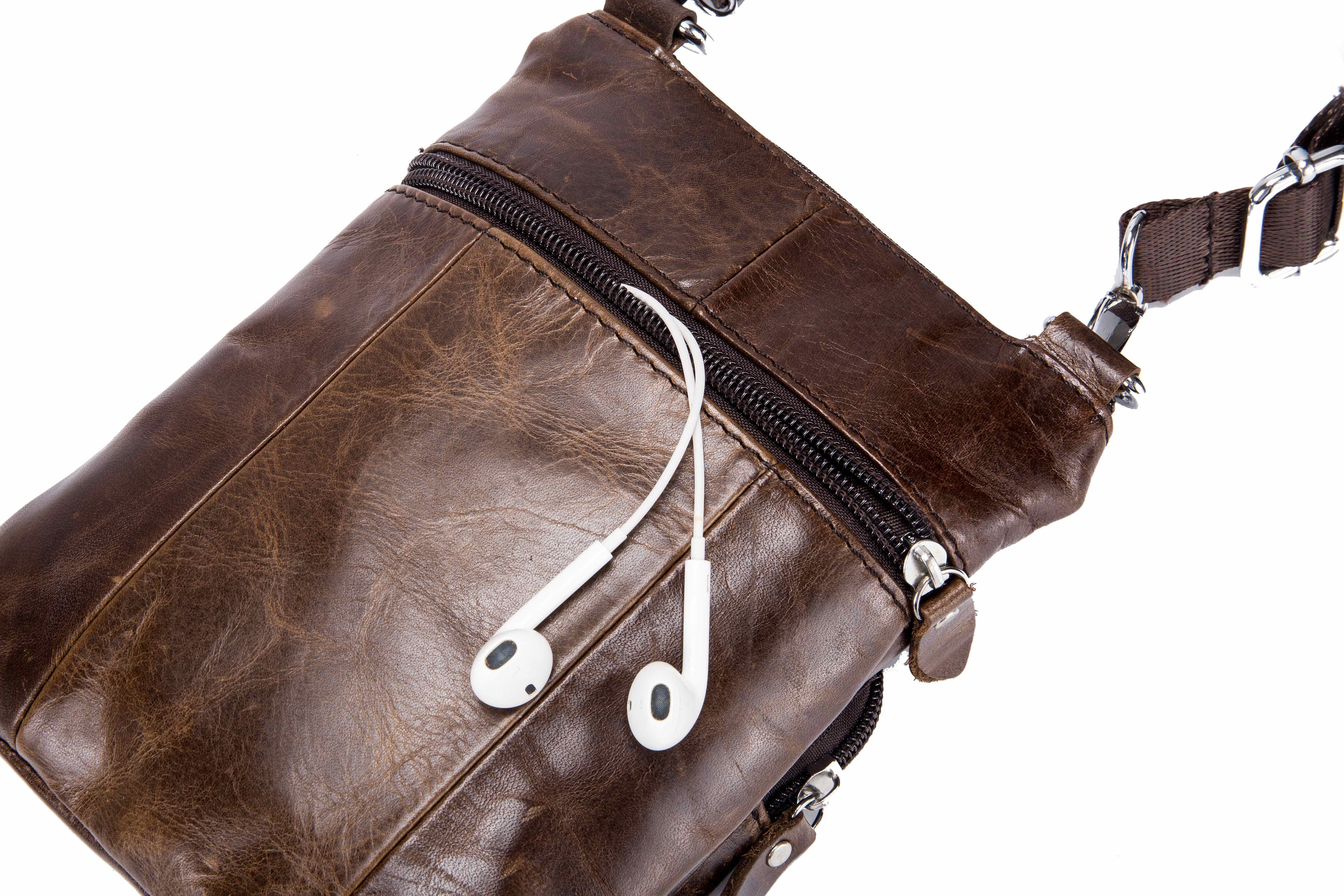 BULLCAPTAIN LEATHER SMALL MINIMALIST SHOULDER BAG FOR OUTING - 084