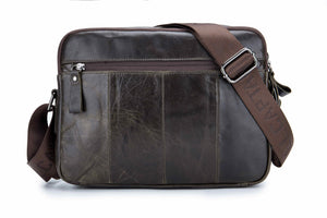 BULLCAPTAIN LEATHER MESSAGER BAG VINTAGE SHOULDER BAG - 035