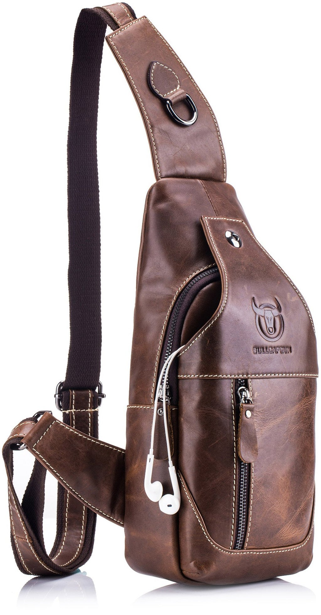 BULLCAPTAIN LEATHER SLING BAG - 019