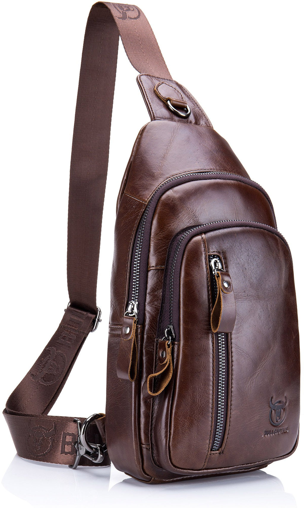 BULLCAPTAIN LEATHER SLING BAG - 100