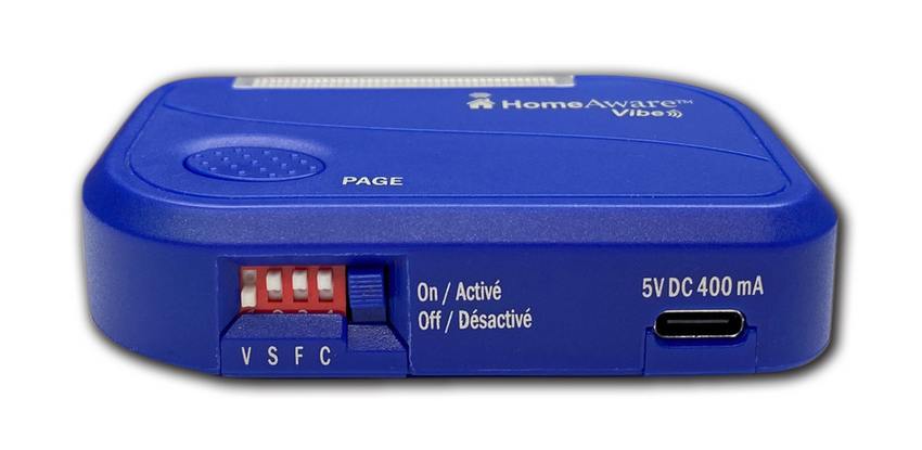 The HomeAware Receiver HA360VB2.1 Vibe Personal Alert Pager with Help Button Transmitter  (Optional Accessory) by Sonic Alert