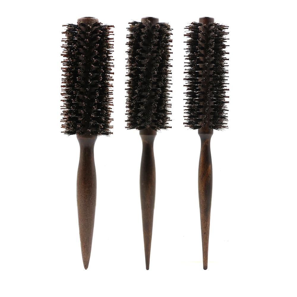Barber Salon Round Roller Wood Hair comb