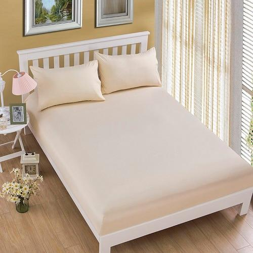 1pcs 100%Polyester Solid Fitted Sheet