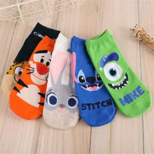2 Pairs New Cartoon Lovely Lady Sock