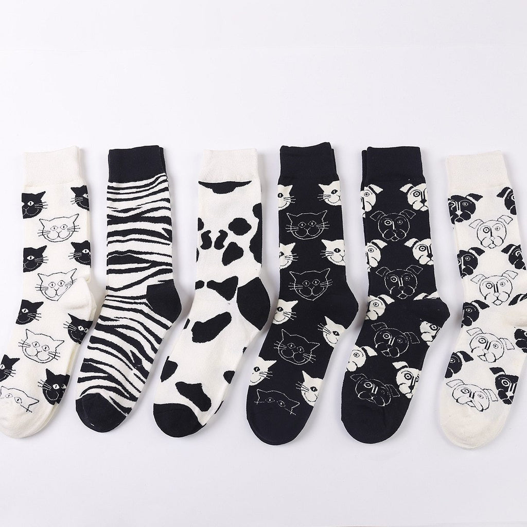 PEONFLY Cartoon Creativity Leopard sock