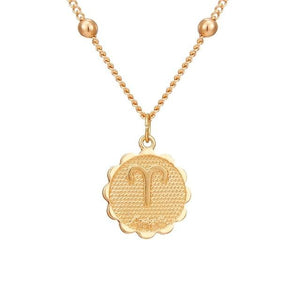 Twelve Constellations Coin Necklace