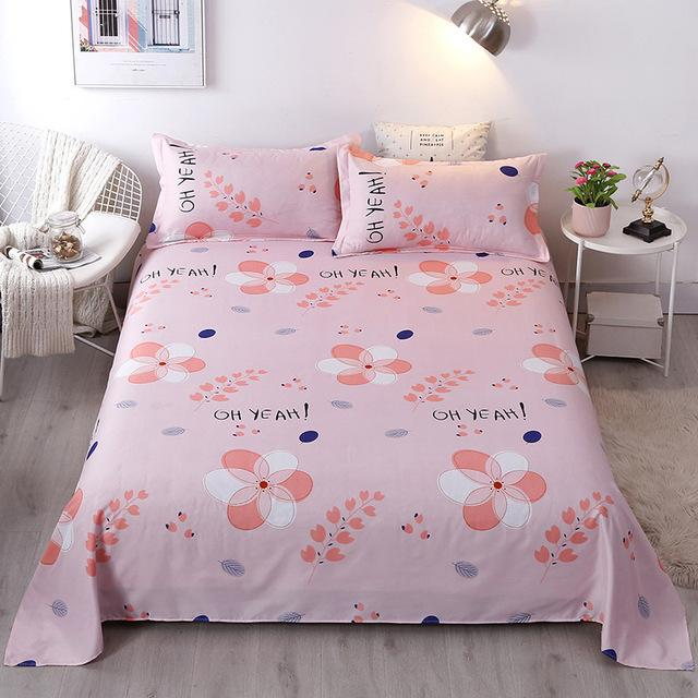 Full Size Cartoon Printed Polyester Flat Sheet