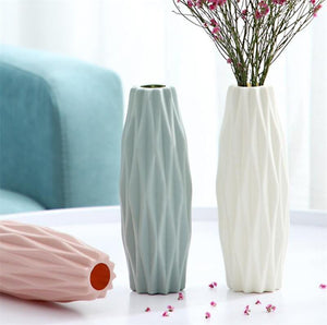 White Imitation Ceramic Flower vase