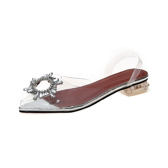New Summer Transparent Sandals shoe