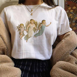 Harajuku Angel 90s T Shirt