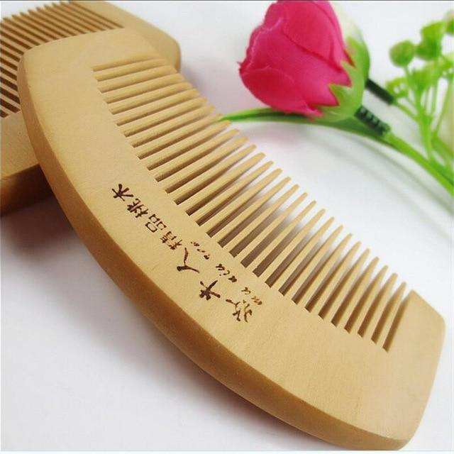 1Pcs Natural Peach Solid Wood Comb