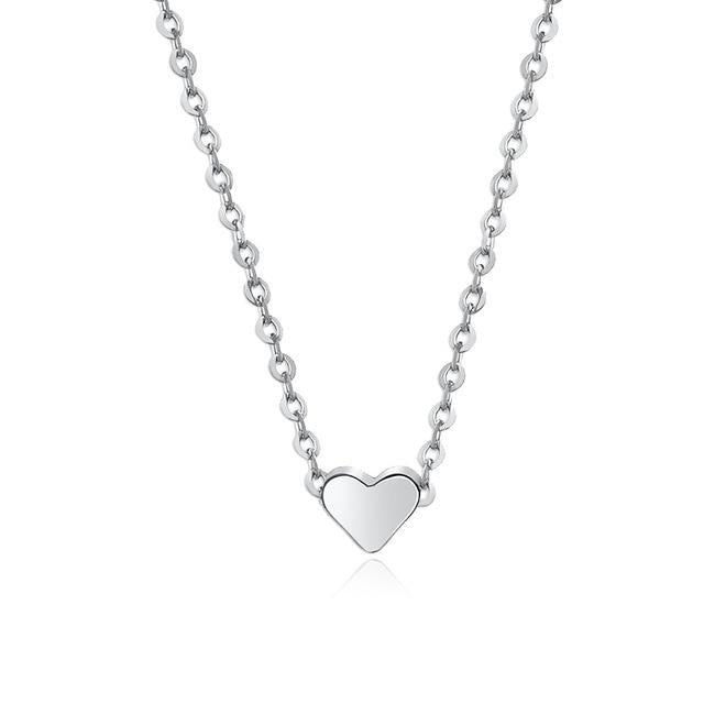 New Arrival Peach Heart Alloy Jewelry Necklace
