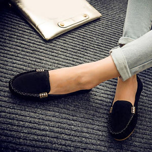 Women Flats Suede Candy Color Loafers Slip  shoe