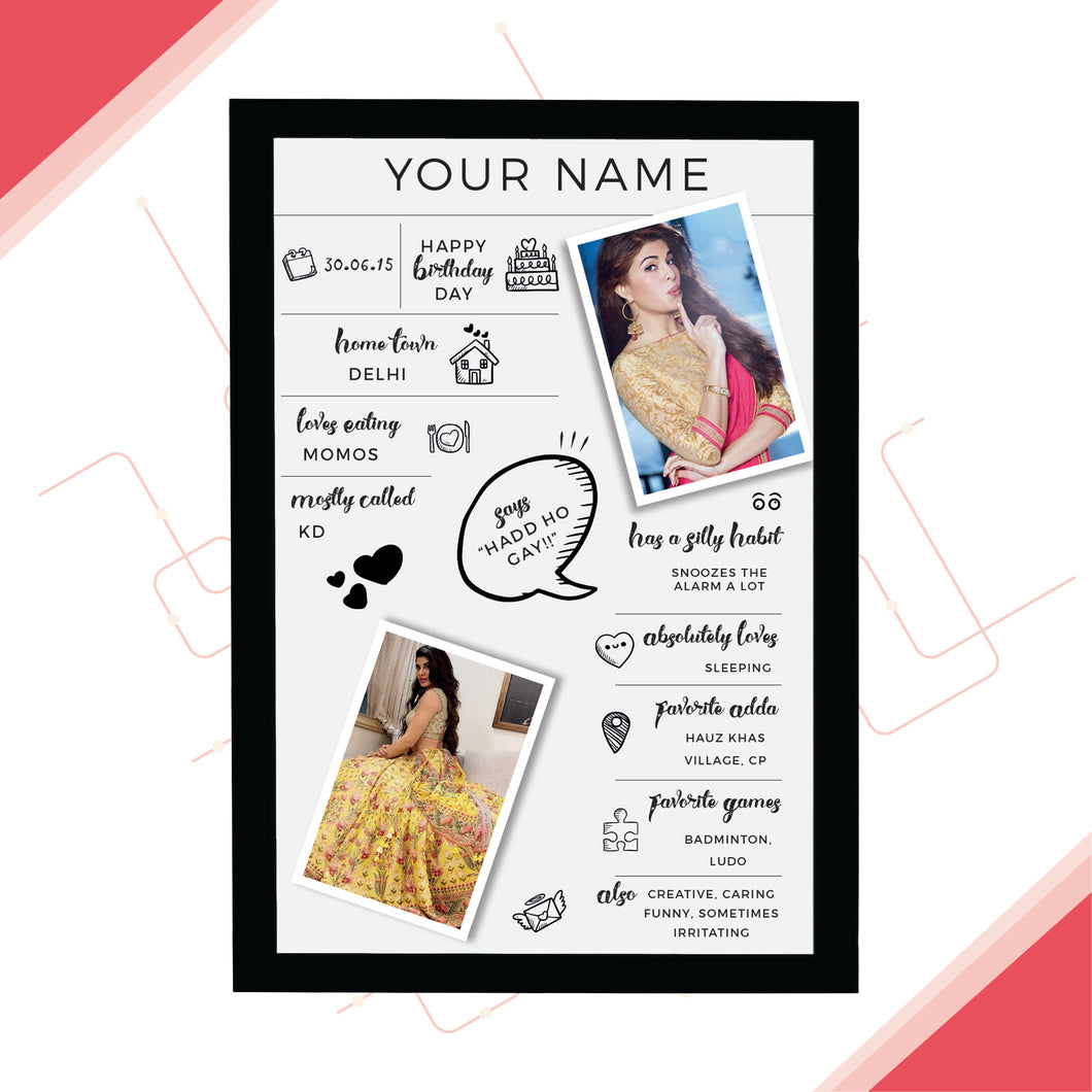 All About You Frame