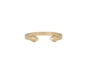 Open Pillar Ring - Yellow Gold - Charlotte Valkeniers Design Ltd