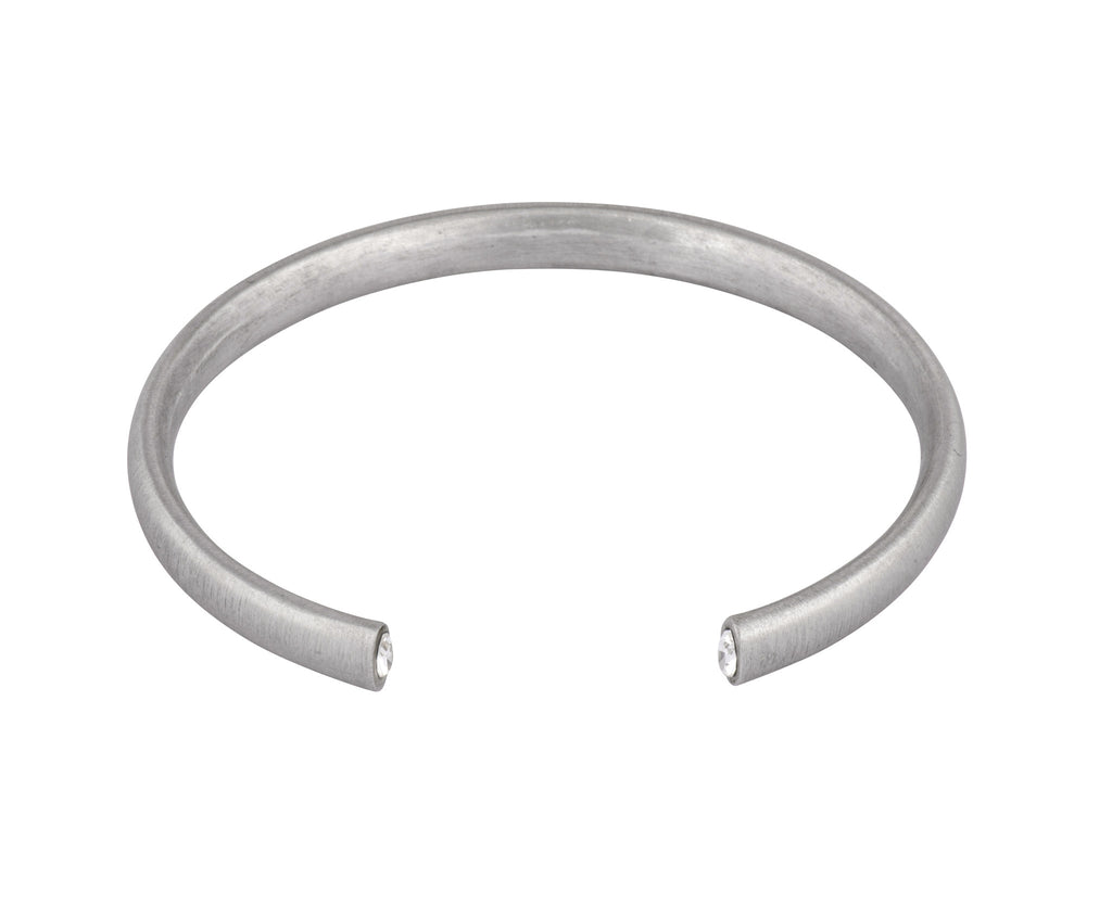 The Zero Cuff - Silver Satin - Charlotte Valkeniers Design Ltd