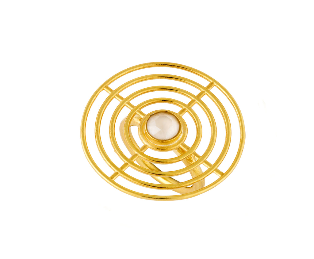 Coil Ring - Gold Polish - Charlotte Valkeniers Design Ltd