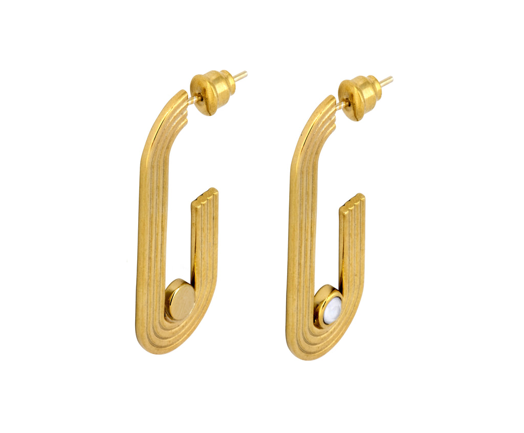 Pilot Hoops - Gold Polished - Charlotte Valkeniers Design Ltd