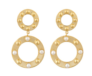 Cyto Earrings - Gold Polished - Charlotte Valkeniers Design Ltd
