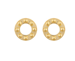 Cyto Studs - Gold Polished - Charlotte Valkeniers Design Ltd