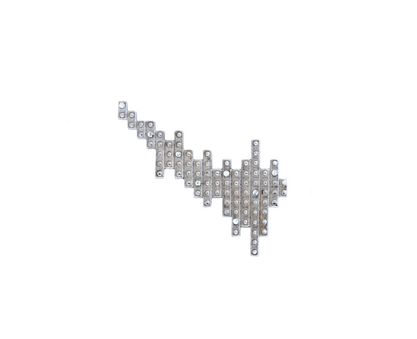 Digit Ear Climber - Silver Polished
