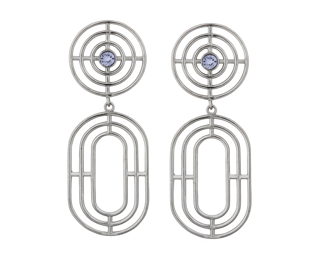 Coil Earrings - Silver Polished - Charlotte Valkeniers Design Ltd