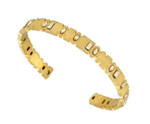 The Binary Cuff - Gold Satin - Charlotte Valkeniers Design Ltd